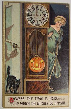 Vintage Halloween Postcard #samhain