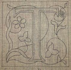 Monogram: T, floral