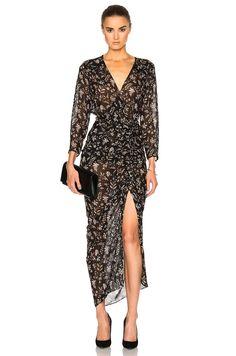 Image 1 of Veronica Beard Merrill Drawstring Dress in Black Multi