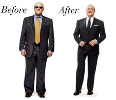 Oversized suits do NOT look good. Know the Seven Things to Look for in a Good Suit as described here.