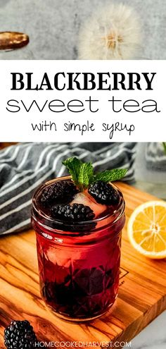 Blackberry Iced Tea is flavored with fresh, ripe blackberries and a sweet sugar syrup to give it the perfect amount of sweetness. This easy iced tea recipe only needs a few ingredients and is ready in no time. Blackberry sweet tea is the most refreshing, cool beverage to drink on those hot summer days. Drink Recipes Nonalcoholic, Non Alcoholic Drinks, Fun Drinks, Yummy Drinks, Beverages, Cocktails, Breakfast Smoothies, Smoothie Drinks, Smoothie Recipes