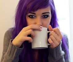 Lovin' this Suicide Girl's plum hair color.