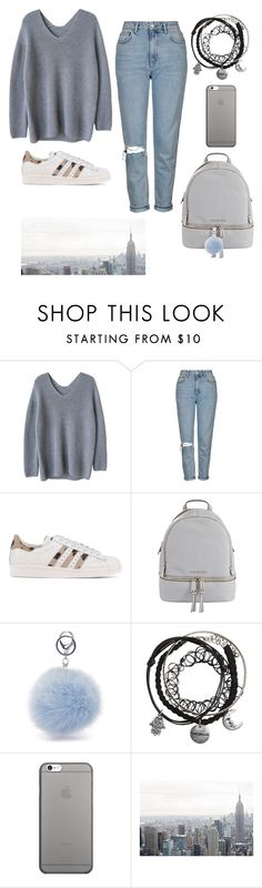 """Untitled #35"" by vika-vika2003 ❤ liked on Polyvore featuring Topshop, adidas Originals, MICHAEL Michael Kors and Native Union"