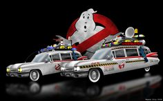 Ecto-1 (Ghostbusters, 1984 & Ghostbusters II, 1989) Ghostbusters Pictures, Extreme Ghostbusters, The Real Ghostbusters, Film Movie, Movies, Movie Cars, Vídeos Youtube, Sci Fi Comics, Cinema