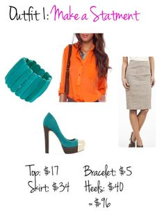 Neon and Neutrals. Business Casual fashion.