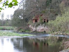Lacy's Caves in Little Salkeld, by the River Eden.