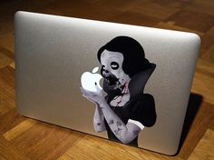 I absolutely love this. If I had a Macbook I would already have my zombie Snow White. Super awesome idea.