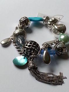 SALE 10 % Rabatt !!  schickes Armband / Bettelarmband blau / silber in Uhren & Schmuck, Modeschmuck, Armbänder | eBay