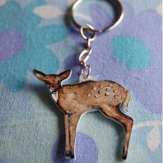 RÅdyr nøkkelring    Deer Retro, How To Make, Retro Illustration