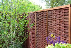 Framed Willow Hurdles & Bamboo Fence Panels from - Modern Willow Fence Panels, Fence Panels For Sale, Willow Screening, Garden Screening, Steep Gardens, Small Gardens, Bamboo Fence, Wooden Fence, Wooden Gazebo