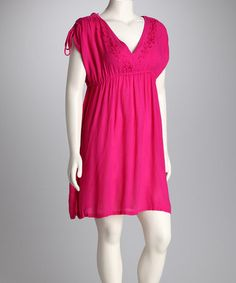 This Raspberry Dress - Women by Raya Sun is perfect! #zulilyfinds