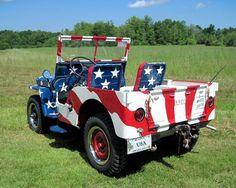Patriotic Photograph All American Jeep  10 x 8 by LovesParisStudio, $30.00