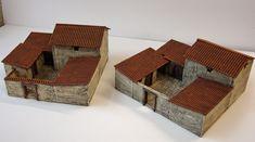 Maquetas de antiguas casas griegas.  #Esmadeco.