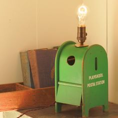 Lamp made from a Vintage Playskool Childrens Shape Sorter...so cool!