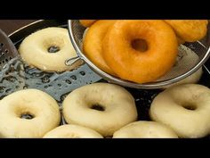 My favorite recipe of fluffy donuts - with this recipe you will never fail! Fun Baking Recipes, Donut Recipes, Snack Recipes, Dessert Recipes, Cooking Recipes, My Favorite Food, Favorite Recipes, Cooking Bread, Homemade Donuts