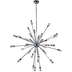 Space Hanging Chandelier Silver