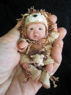 Polymer Clay baby.. Hand crafted..seriously adorable