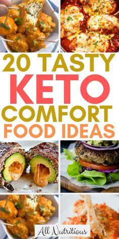 Looking for comfort food recipes that are also great for the ketogenic diet? Try these keto comfort foods at home with your family, stay within your carb limits, continue losing weight and eat keto meals that will make you feel like you're cheating. Keto Diet Guide, Ketogenic Diet Meal Plan, Ketogenic Diet For Beginners, Keto Meal Plan, Ketogenic Recipes, Diet Recipes, Dessert Recipes, Breakfast Recipes, Healthy Recipes