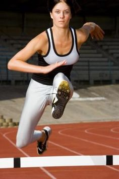 HER ARM The fastest way to run a faster hurdle race is to improve your technique and strategy. More than races without hurdles and shorter hurdle races, the requires you to learn how to . Running Track, Track Workout, Long Jump, High Jump, 400m Hurdles, Anaerobic Exercise, Learn To Run, Runners World, Sports