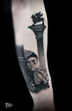 tatuaggeria#tattoo #tattoos #tat #ink #inked #tatuaggeria #pierrot #tattooed #tattoist #coverup #art #design #instaart #instagood #sleevetattoo #handtattoo #chesttattoo #photooftheday #tatted #instatattoo #bodyart #blackandwhite #tats #amazingink #tattedup #venice