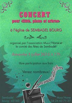 """Concert pour """"flûte, piano, arbres"""" - 5 juillet 2015 - Sembadel"""