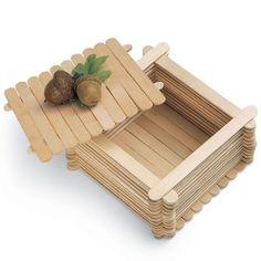 Craft Stick Trinket Box: