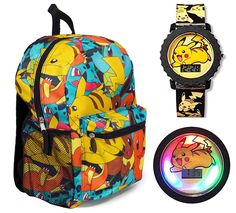 Pokemon 16' All Over Print Backpack with Pikachu Flashing Watch - Kids ** Find out more about the great product at the image link.