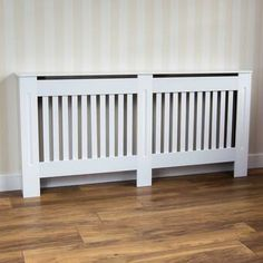 Home Discount Chelsea Radiator Cover Modern Slatted Grill Slats White Painted MDF Cabinet, Extra Large - Rattan Furniture SHOP UK Interior Furniture Radiator Heater Covers, Modern Radiator Cover, Horizontal Radiators, Column Radiators, Black Radiators, Latte, Mdf Cabinets, Home, Writing