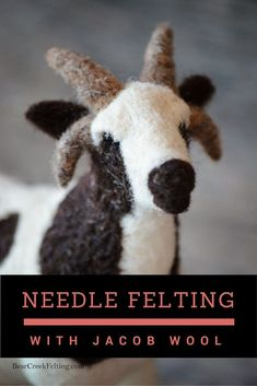 Needle Felting with Jacob Wool, Teresa of Bear Creek Felting shares her thoughts on Jacob sheep and how it is to needle felt with. Read the series - Needle Felting through the Sheep Breeds.