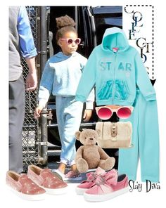 """Kids Fashion"" by staydiva on Polyvore featuring moda, Pink Mint, Valentino, Jellycat, Chiara Ferragni, Pared, Aquazzura y BlueIvy"