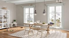 I created this Coastal Cottage dining room using Design By What Matters by Benjamin Moore. What's your design personality? #BenjaminMoore #DBWM