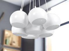 Valkoinen kattovalaisin OLZA_67584 Modern Ceiling Lamps, White Pendant Light, Lamp, Pendant Lamp, Ceiling Lamp, White Pendant Lamp, Modern Scandinavian Interior, White Hanging Lamps, Energy Efficient Bulbs