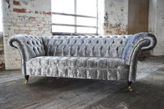 MODERN-HANDMADE-SILVER-CRUSHED-VELVET-FABRIC-CHESTERFIELD-SOFA-COUCH-CHAIR