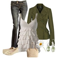 Ruffled top by stefani-nelson on Polyvore