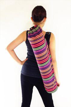 Handmade Yoga Mat Bag Yoga Bag Sports Bags Tote Yoga Sling bag Pilates Bag Pilates Mat Bag Woven Cotton bag (FF9)