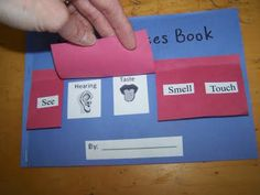 The 5 Senses create a book how fun. This would be great for simple words, and to get preschoolers or kindergarten familiar with using words.