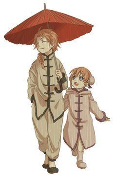 Gintama Kagura and Kamui