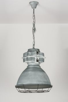 Hanglamp 72413: Modern, Industrie, Look, Betongrijs