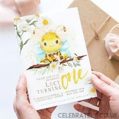 Bee 1st Birthday Invitation EDITABLE Gender Neutral Daisy and Honey Bee Invitations, Digital, Woodland Theme Invites Instant download WD57 Bee Invitations, 21st Birthday Invitations, 18th Birthday Party, Invitation Card Design, Digital Invitations, Invitation Cards, Invites, Woodland Theme, Christmas Card Template