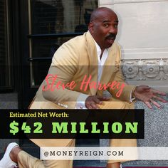 Steve Harvey is one of the funniest guys on television today. In addition to his success in the world of fashion and television, he also has a net worth of more than $42 million.