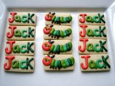 Hungry Caterpillar cookies - great party favors!