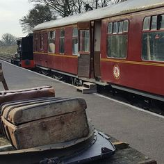 Somerset and Dorset railway - i love the old look luggage giving the photo atmosphere #heritage