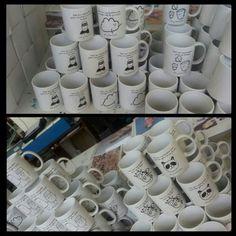 Tazas blancas personalizadas con originales dibujos y frases. #Tazas #Mugs