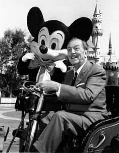 Walt Disney.   This is one of the last picture taken of Walt at Disneyland, before he passed away in December 1966.  I currently have a picture of this hanging on my wall