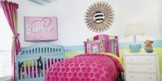 LOVE this Barbie Nursery by Shay from Designer Detective! So much personality that any girl would love!