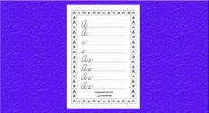 Píšeme písané písmenká