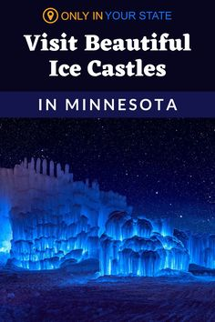 Add these beautiful Minnesota ice castles to your winter travel bucket list. Walk through a frozen palace with ice slides and colorful lights that kids and adults alike will love. This magical destination is perfect for both date night and family fun. Winter Fun, Winter Travel, Vacations In The Us, Family Vacations, Funny Holiday Cards, Ice Castles, New Brighton, Vacation Destinations, Back Home