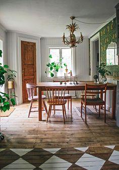 Lovely kitchen in the home of blogger Plåthuset