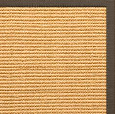 Sustainable Lifestyles Tan Sisal Rug with Rye Cotton Border