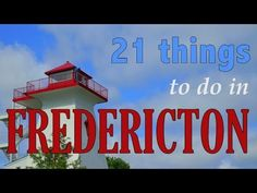 In our latest travel video we showcase 21 things to do in the capital city of Fredericton, New Brunswick, Canada in this top attractions travel guide. Fredericton New Brunswick, Attraction, Stuff To Do, Things To Do, New Brunswick Canada, East Coast Travel, Atlantic Canada, Visit Canada, Ireland Travel